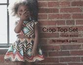 Crop Top Skirt Set PDF Sewing Pattern  MG2715