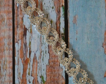 Rhinestone Wedding Bracelet, Crystal Bridal Bracelet, Rhinestone Bracelet, Silver Wedding Jewelry