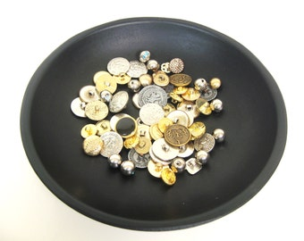 Vintage Button Lot - Gold, Silver and Bronze Colors