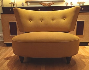 Golden Yellow Slipper Chair/Bench