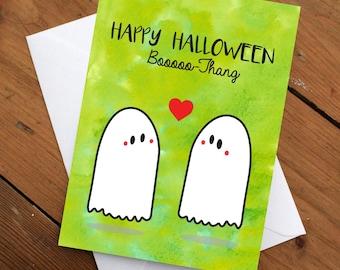 Happy Halloween Booooo-Thang Card, Halloween Card, Love Card, Funny Card