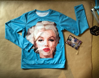 Marilyn sweatshirt - Order in any color, any size for any sex or age! Great quality prints