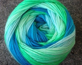Self Striping Sock Yarn - Neptune's Lagoon