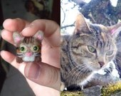 Custom Needle Felted Cat Miniature, Cat Soft Sculpture, Custom Cat Portrait, Felt Cat, Cat Lover Gift, Cat Memorial, Kitty, Cute, Wool Cat