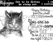 Cat to be Kitten Me Digital Stamp Set