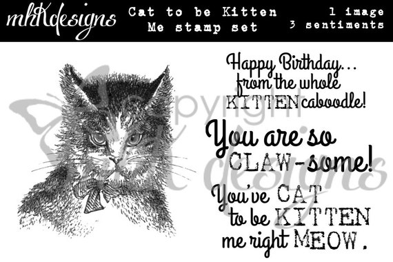 Cat to be Kitten Me Digital Stamp Set