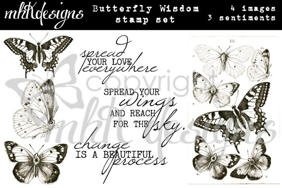 Butterfly Wisdom Digital Stamp Set