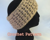 PDF Crochet Pattern - Cluster Stitch Headband and Boot Cuffs - Instant Download
