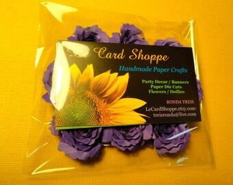 Shades of Purple Handmade Paper Flowers Set of 10