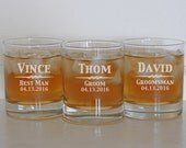 11 Personalized Whiskey Glasses, Gifts for Men, Old Fashioned Whiskey Glasses, Summer Wedding, Custom Glasses, Scotch Glass, Groomsmen Gift
