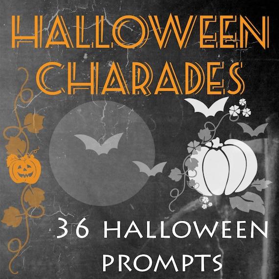 Wedding Charades Ideas: Items Similar To Halloween Charades