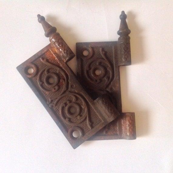 Vintage Door Hinge Cast Iron Decorative Door
