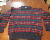 Awesome Vintage Pure Wool Sweater Made in Britain Craftcentre Cymnu Gwynedd Wales