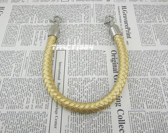 16 inches Gold Color Synthetic Leather Bag Handle