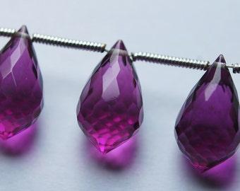 New Arrival,10 Pcs,Superb-Finest Quality,Rodolite Pink QUARTZ Faceted Chandelier Dew Drops Shape Briolettes,14x8mm size,