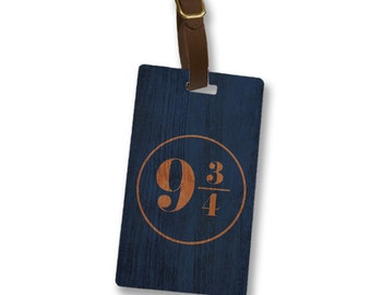 9 3/4 Ravenclaw House Colors, Harry Potter Personalized Luggage Tag