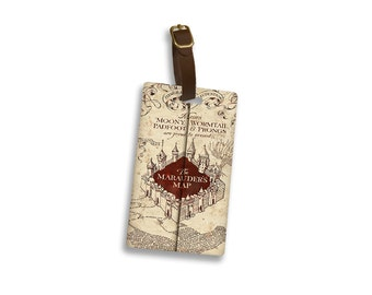 Harry Potter Marauders Map Personalized Luggage Tag