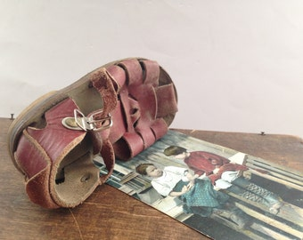 Soviet Vintage Baby Sandal 1970s Kids room decor Altered art piece USSR era collectible