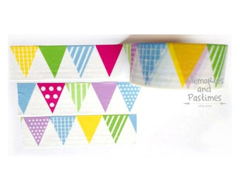 Pennants Washi Tape - 20mm - Scrapbooking Embellishment Gift Wrapping - Love My Tapes - 501991