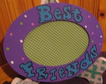 Best Friend Picture Frame Purple