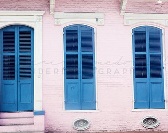 New Orleans Photography, French Quarter Photograph, NOLA print, pink architecture, Bohemian Photography, Big Easy, Southern Photography,