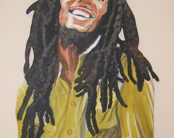 bob marley portrait etsy. Black Bedroom Furniture Sets. Home Design Ideas