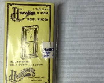 "Dollhouse Miniature 1/2"" Scale Window"