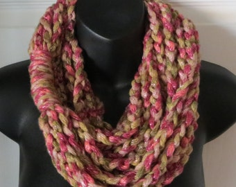 Chunky Infinity Scarf...Cowl...Neck Warmer...Accessory...Gift