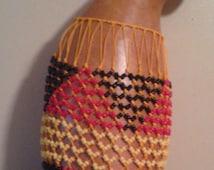 Sekere & udu combo (maxi jumbo Yoruba netted gourd rattle/Igbo percussion vessel)            FREE DOMESTIC SHIPPING
