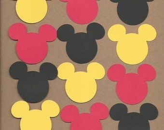 50- 2 inch Mickey Mouse Heads Cricut Die Cuts