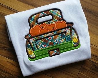 Pumpkin truck . Embroidered shirt