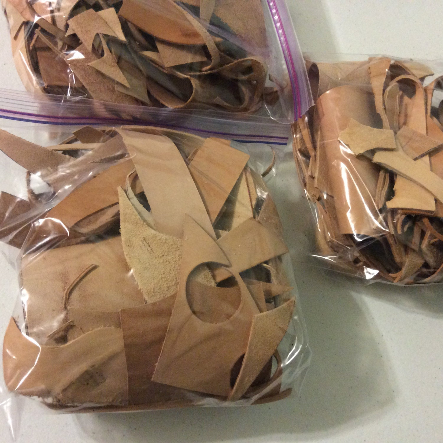 Leather scraps for crafts -  5 00