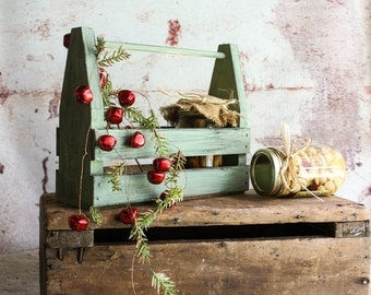 Florida Holiday Rustic Wooden Crate Carrier