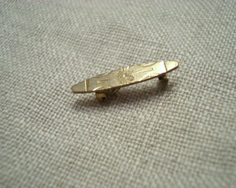 Antique Gold Pin Brooch Vintage Jewelry Tiniest Ever Detailed, Circa 1800s