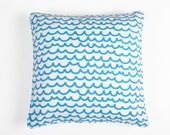 Blue Waves Square Cushion Cover