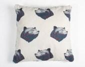Bear Square Cushion Cover
