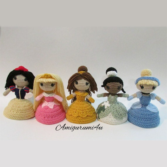 Amigurumi Disney Princess : Items similar to Disney Princess Amigurumi Crochet Doll ...