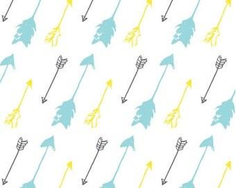 Organic Baby Blanket, Swaddle Blanket, Crib Blanket, Stroller Blanket, Arrows