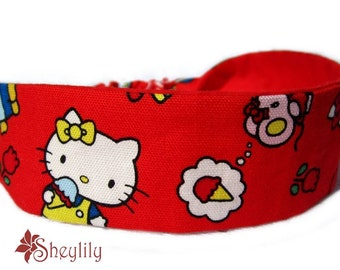Hello Kitty Headband in Red by Sheylily