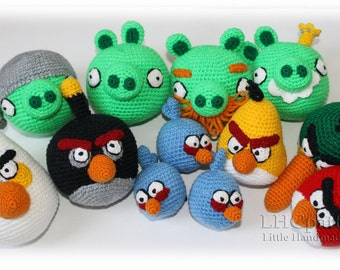 Angry Birds and Bad Piggies Crochet Toys PDF Pattern