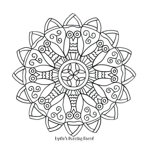 Celtic Owl Mandala Coloring Page
