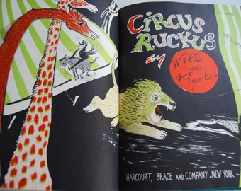 Vintage Children's Book, Circus Ruckus