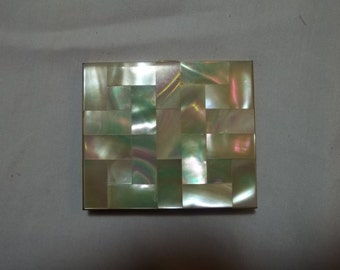 1960s compact with mother-of-pearl case