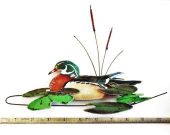 BOVANO of Cheshire Handcrafted USA Duck Season Enamel Wall Hanging