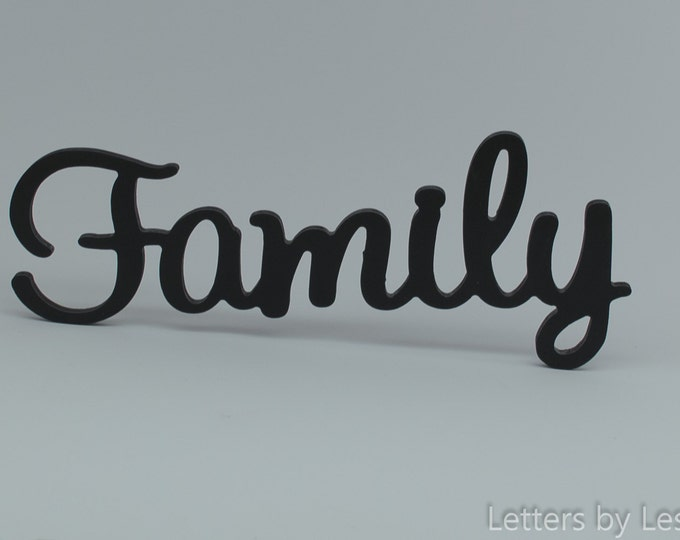 Family Wooden Wall Sign, Family Wall Decor. Family Wall Letters. Wooden wall sign. Family sign