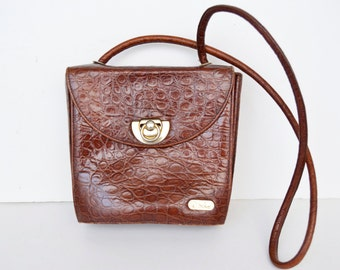 shoulder bag brown leather