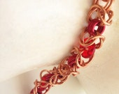 Real copper with red Czec...