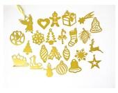 24 paper cut Christmas ornaments - 2 inch