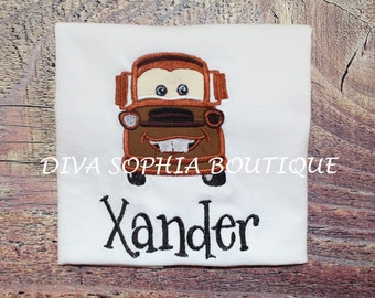 Personalized Tow Mater Shirt - Birthday - Infant - Toddler