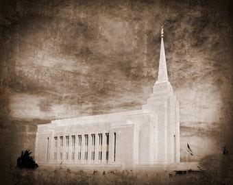 Rexburg Temple Picture